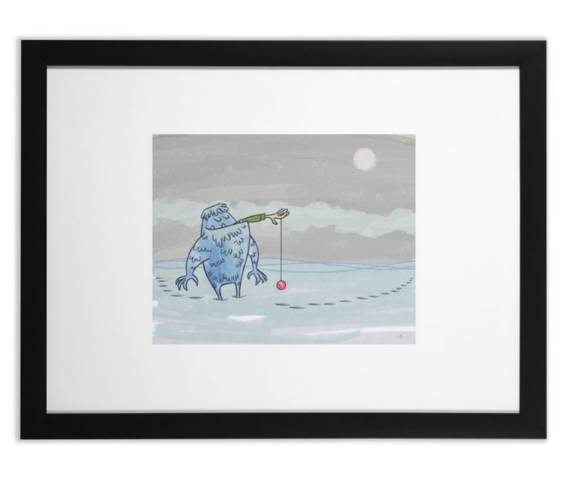 Yeti With A YoYo - Art Print